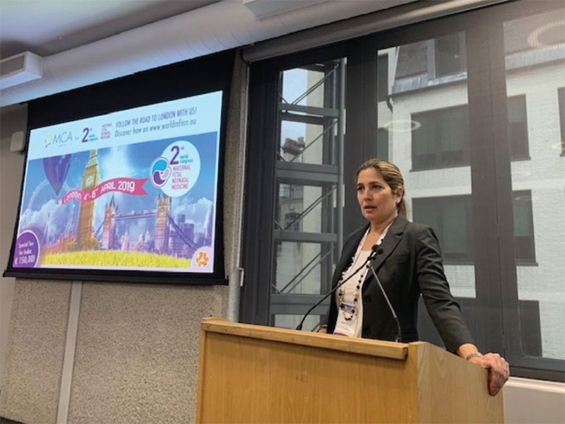 Dr. Kontopoulos presentation at the World Congress on Maternal Fetal and Neonatal Medicine London 2019